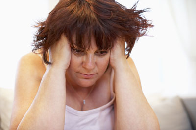 woman suffering from depression and who needs outpatient care